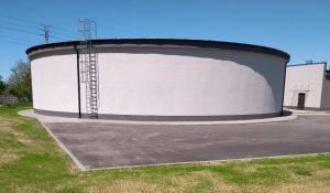 Budowa zbiornika wody czystej zakończona